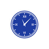 Clock icon. Number.