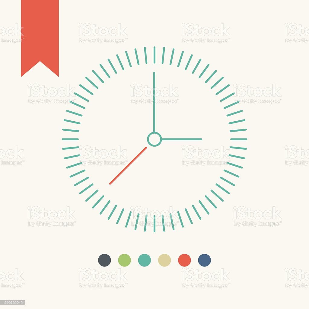 Clock icon vector art illustration
