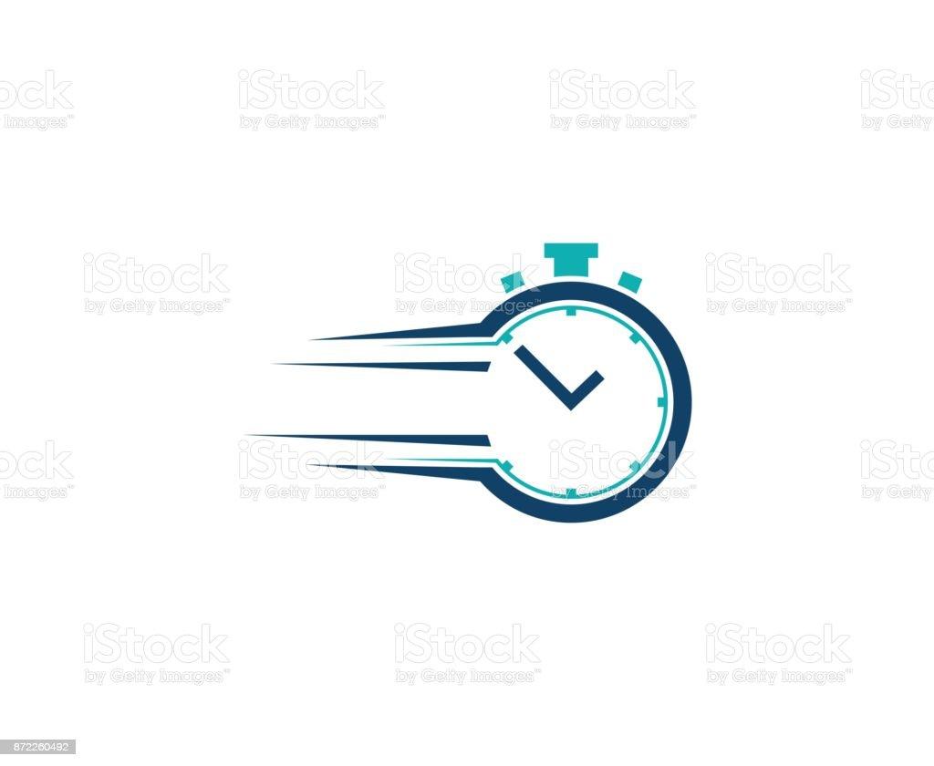 Clock icon vector art illustration