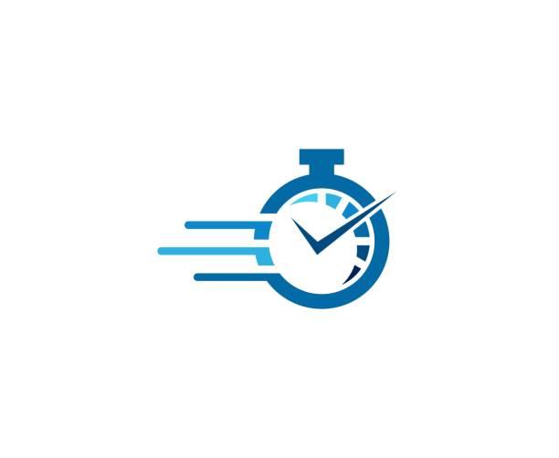 ilustraciones, imágenes clip art, dibujos animados e iconos de stock de icono de reloj  - velocidad