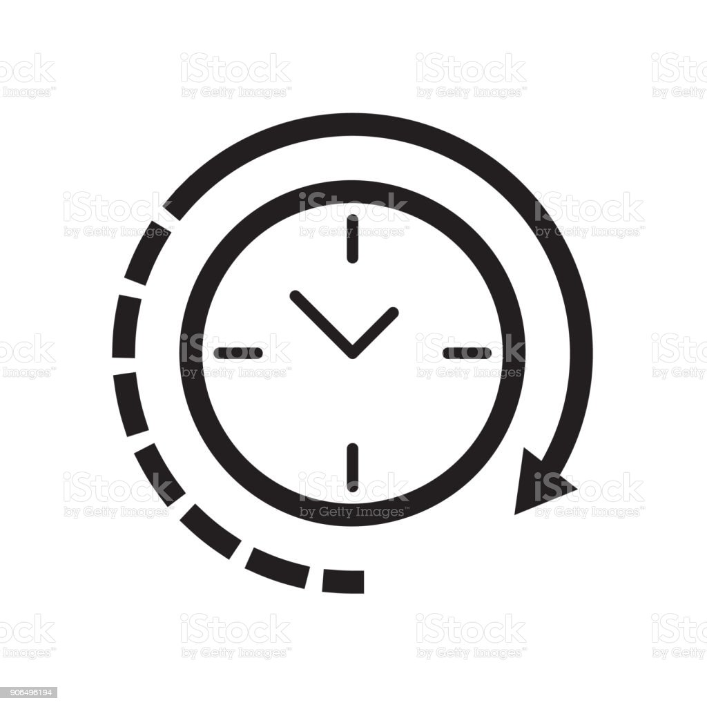 Clock icon Vector illustration, EPS10 vector art illustration