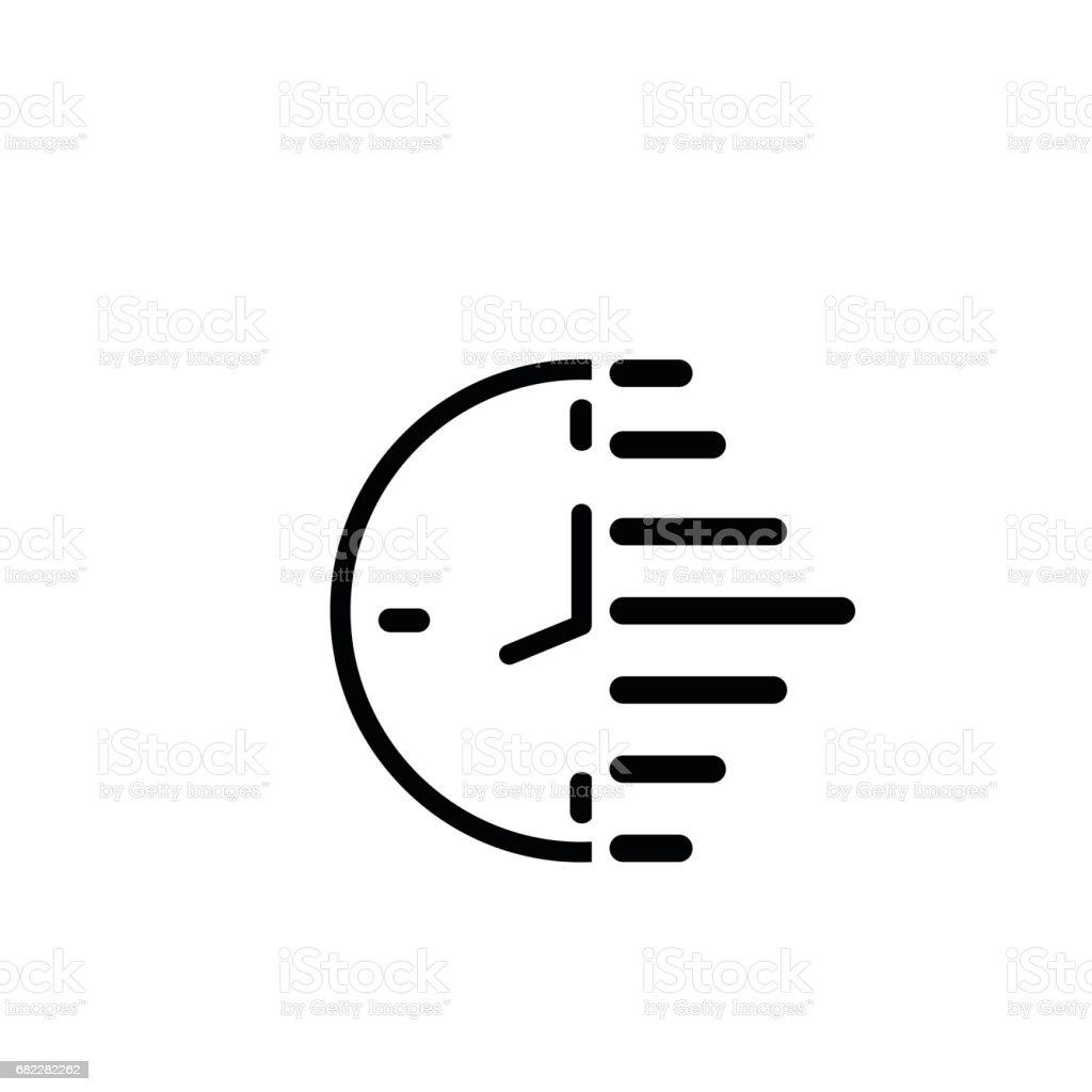 Clock icon, vector illustration. Simplified flat design. vector art illustration