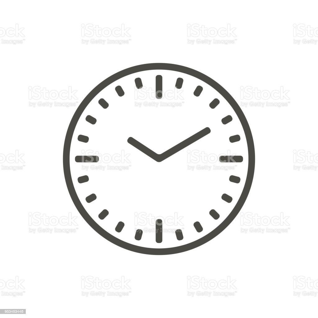 Ilustración de Vector Icono De Reloj Símbolo De Tiempo De Línea y ...