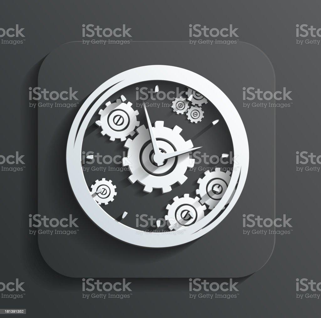 clock icon vector royalty-free stock vector art