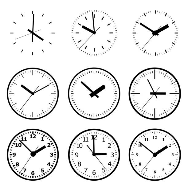illustrazioni stock, clip art, cartoni animati e icone di tendenza di icona orologio. concetto di tempo mondiale. background aziendale. marketing su internet. - quadrante