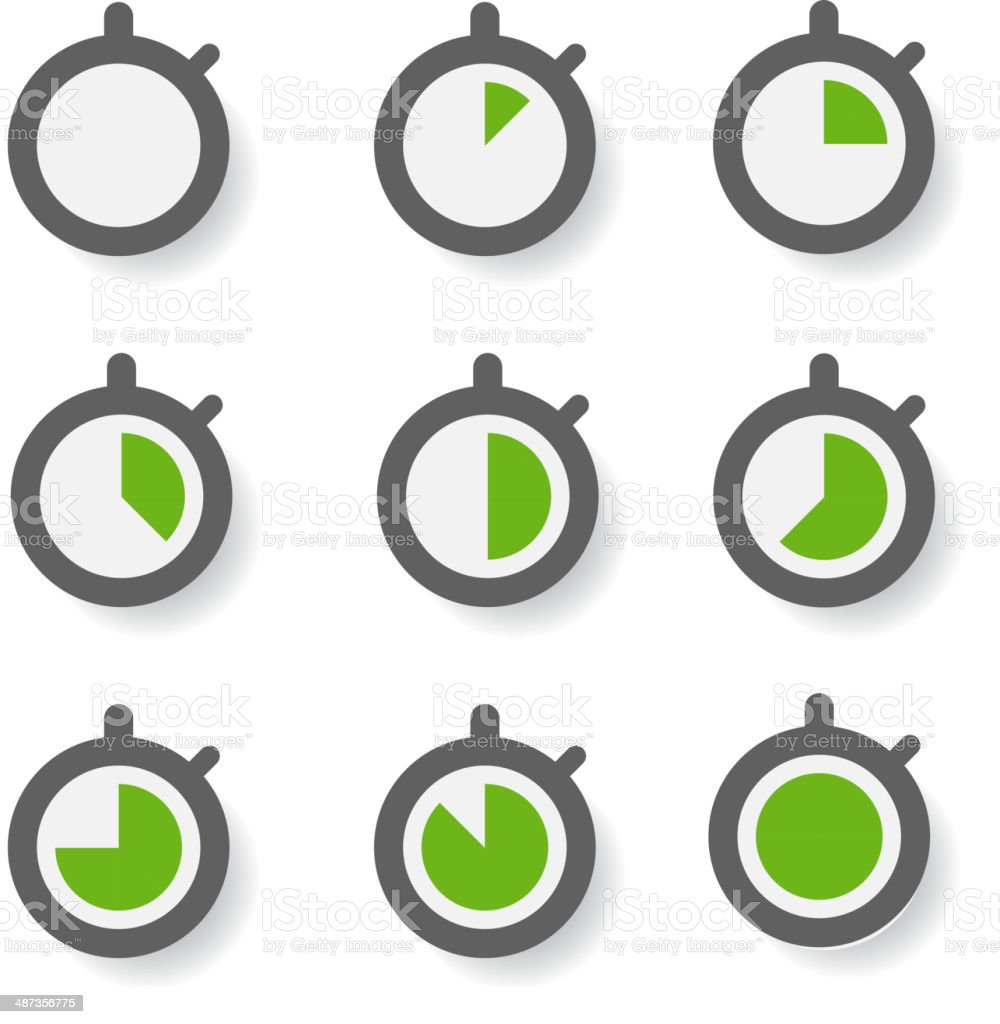Clock icons collection. Design elements vector art illustration