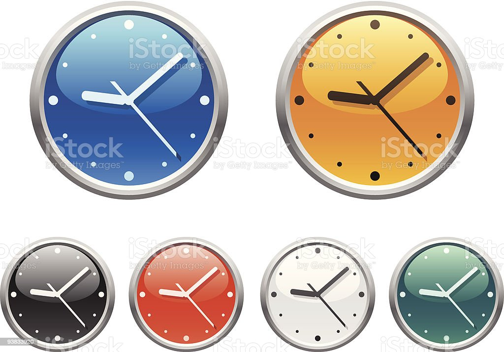 Clock icons. Part two royalty-free stock vector art