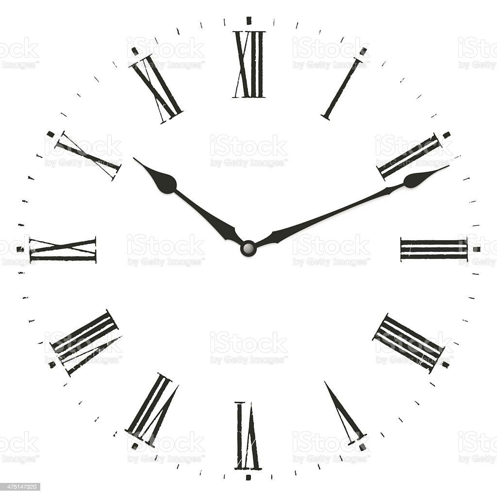 Clock illustration. vector art illustration