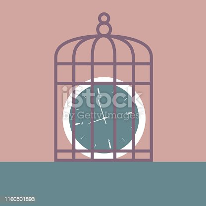 Clock in the bird cage