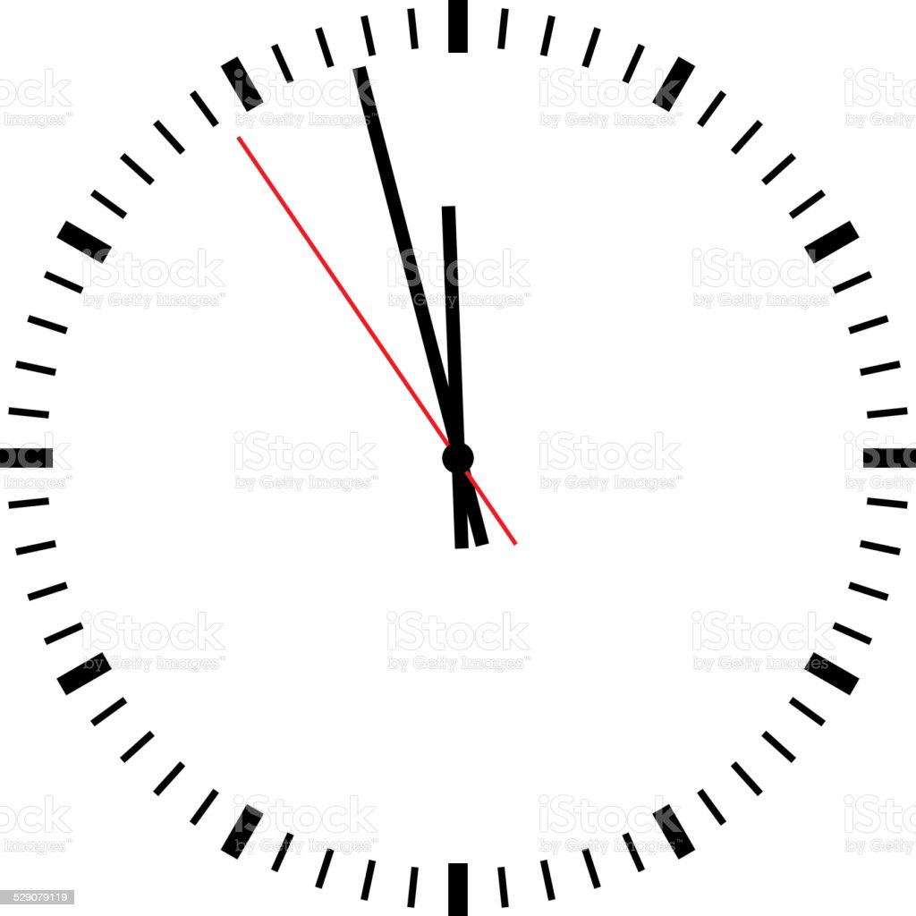 Clock isolated vector art illustration