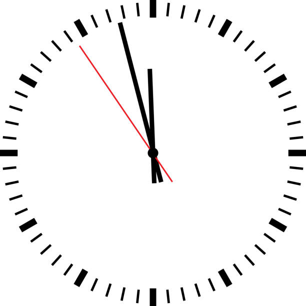 clock isolated - clock face stock illustrations, clip art, cartoons, & icons