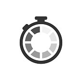 Clock loading icon. Download icon vector symbol. Isolated vector.