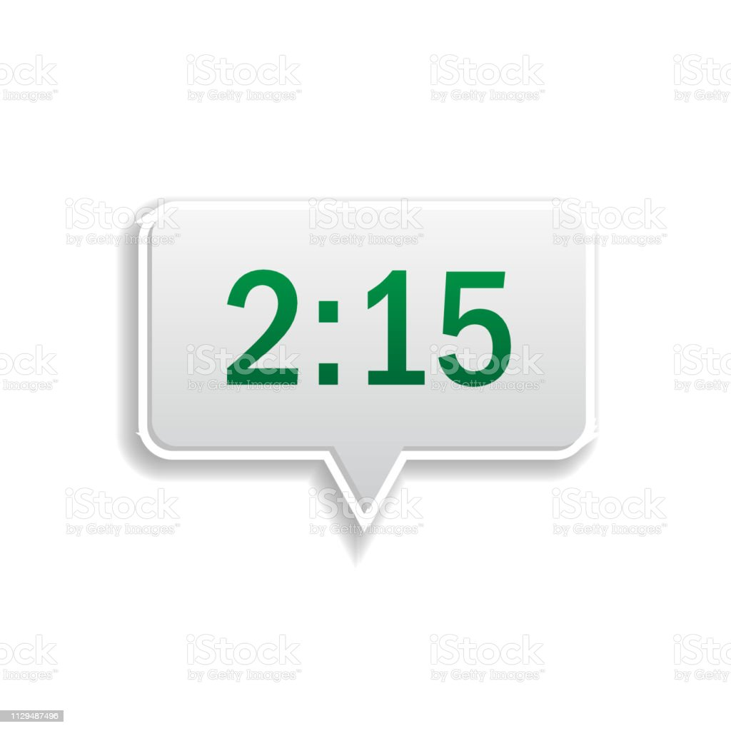 Clock Notification Colored Sticker Icon Elements Of Music Player In