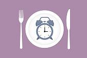 istock Clock on a dish 1210974454