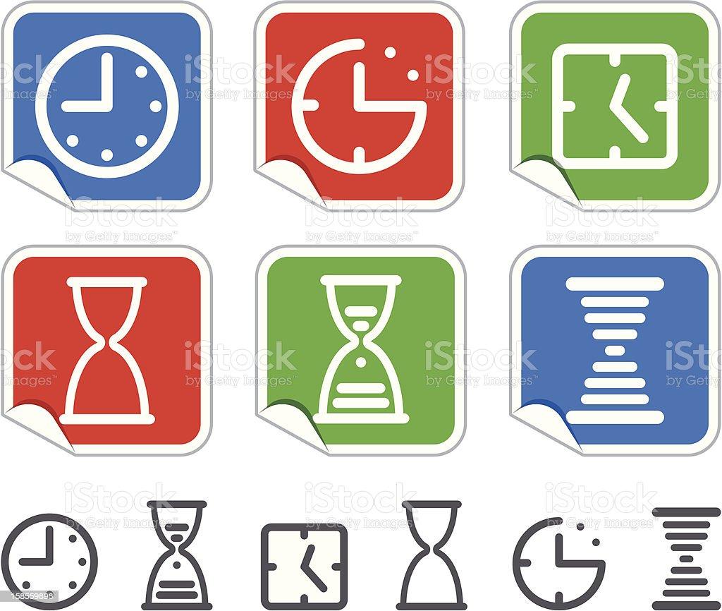시계도 스티커 royalty-free 시계도 스티커 0명에 대한 스톡 벡터 아트 및 기타 이미지