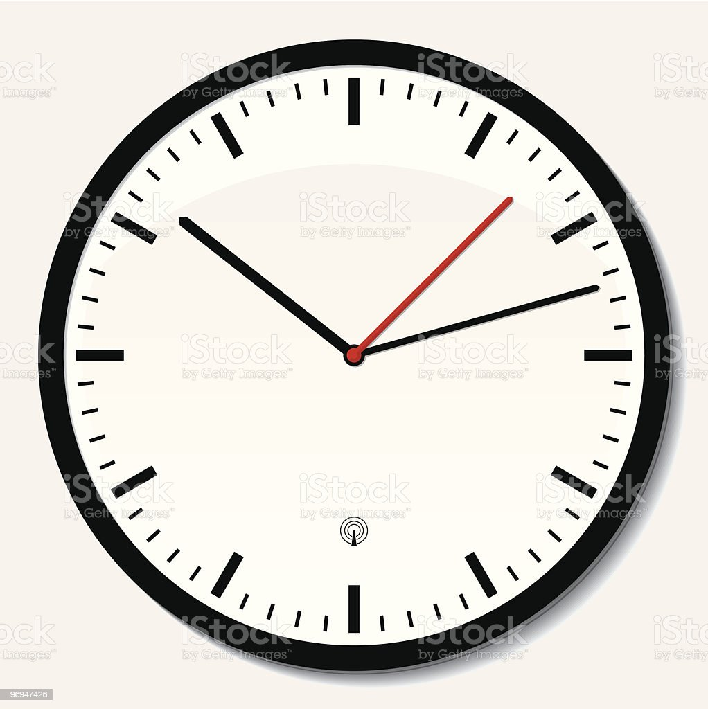 Clock on wall reads that it is 10:07 royalty-free clock on wall reads that it is 1007 stock vector art & more images of clock