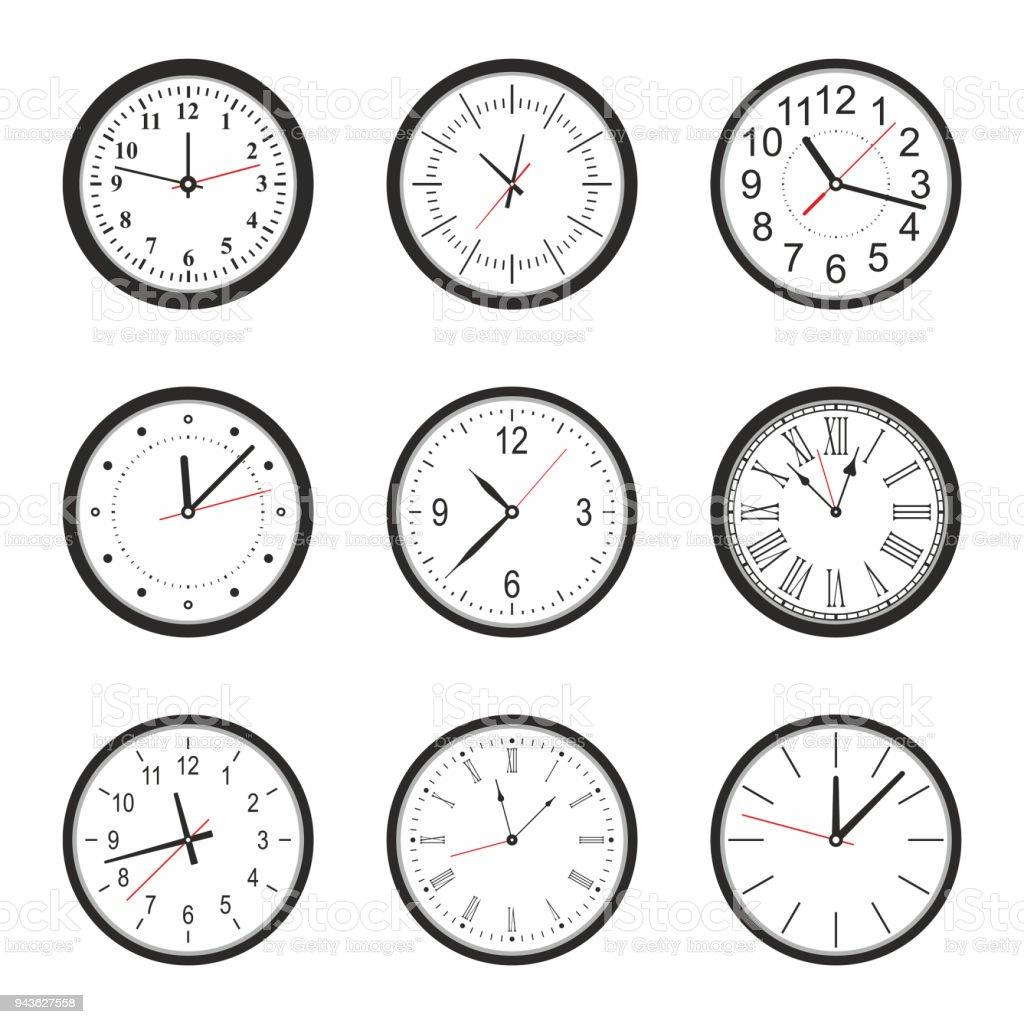 Clock Set Stock Illustration Download Image Now Istock