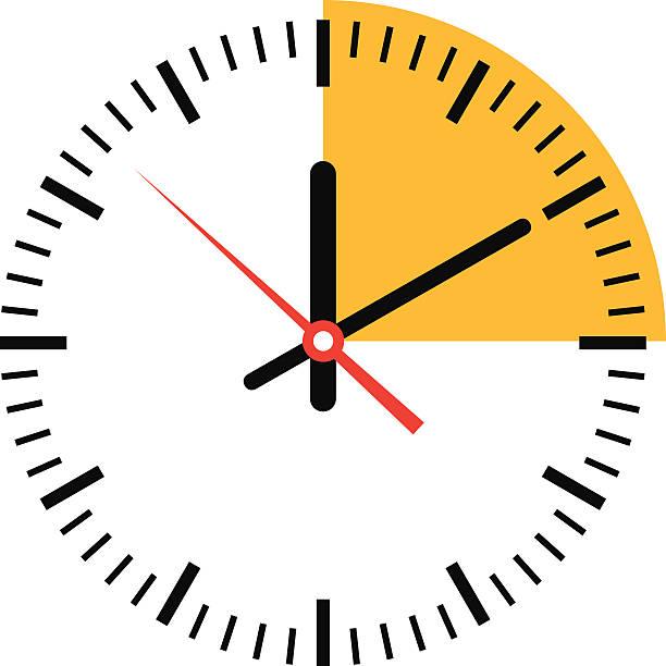 illustrazioni stock, clip art, cartoni animati e icone di tendenza di orologio con tempo-vettoriale - quadrante