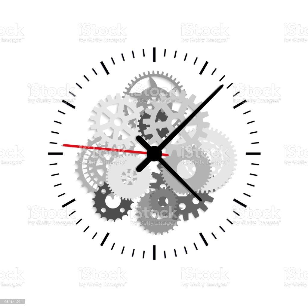 Clock silver on white background isolated object clock silver on white background isolated object - immagini vettoriali stock e altre immagini di arte, cultura e spettacolo royalty-free