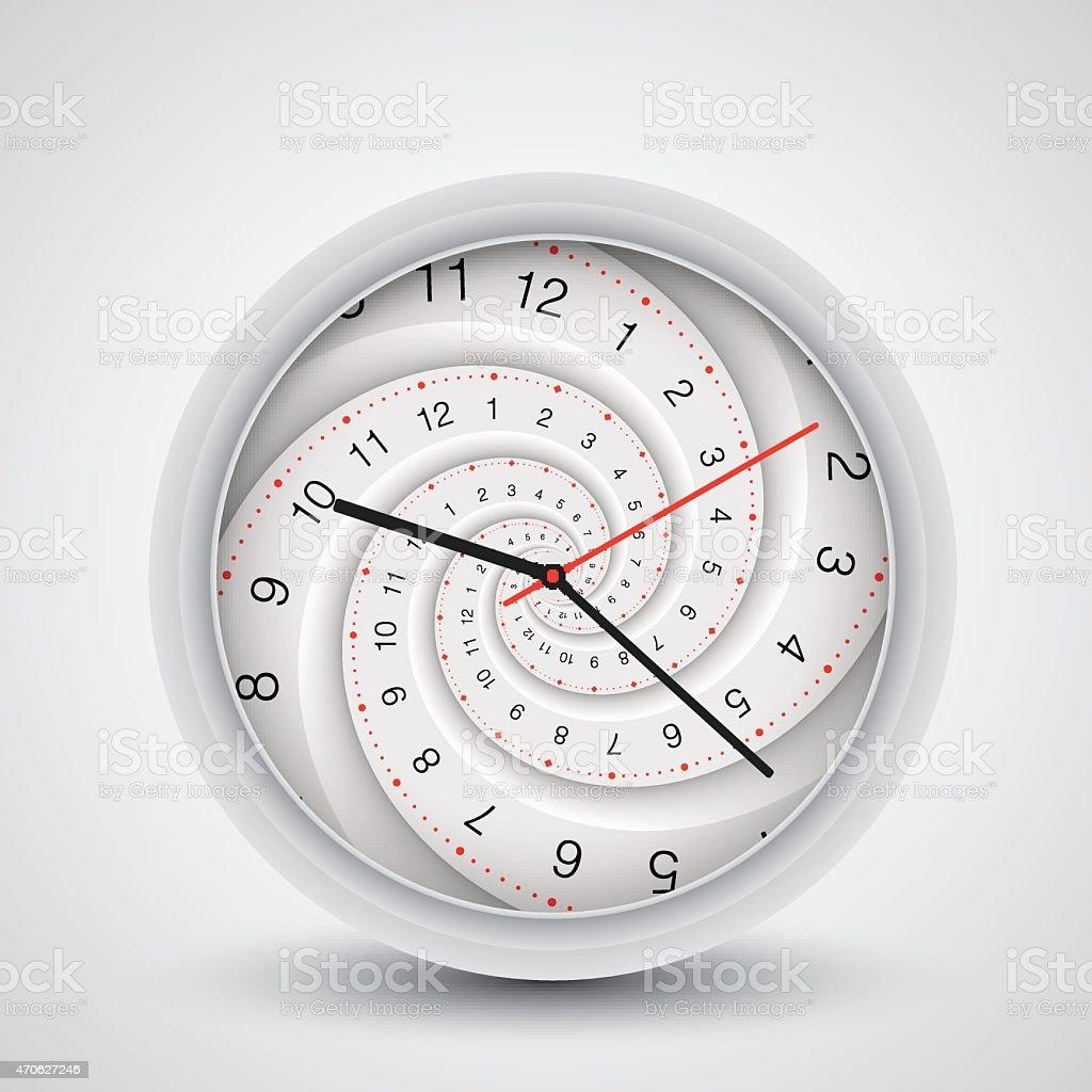 Clock spiral vector art illustration