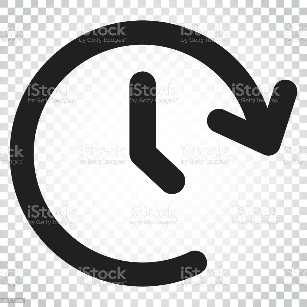 Uhrzeitvektorsymbol Zeitschaltuhr 24 Stunden Zeichen Darstellung ...