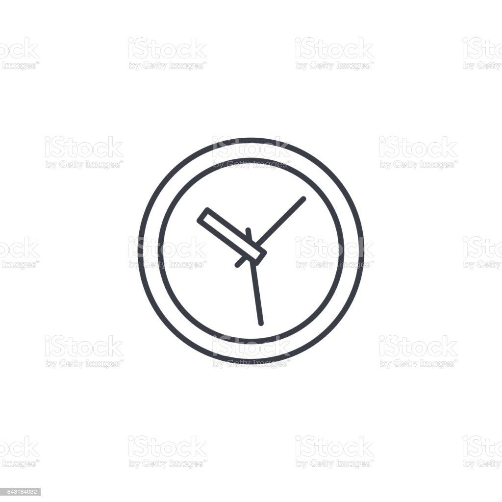 b0a92a08a353 Ilustración de Reloj Tiempo Reloj Delgada Línea Icono Símbolo De ...