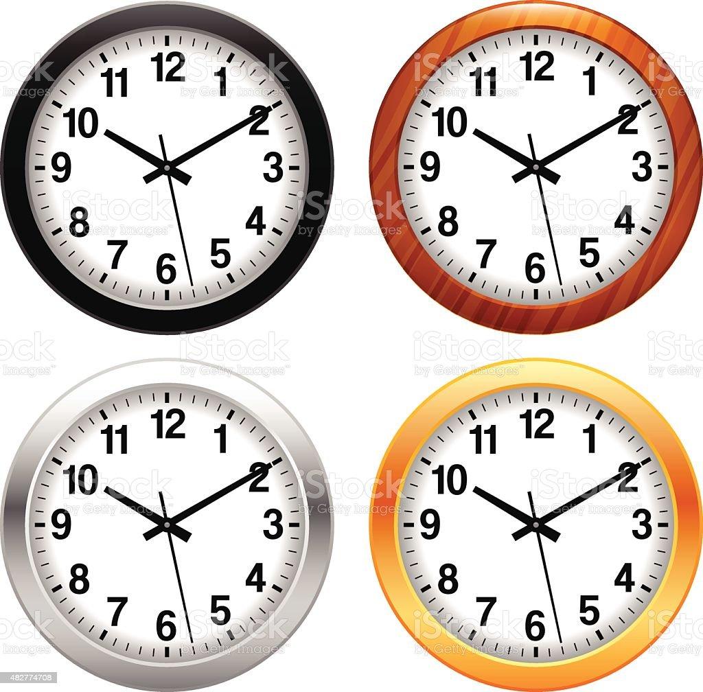 royalty free wall clock clip art vector images