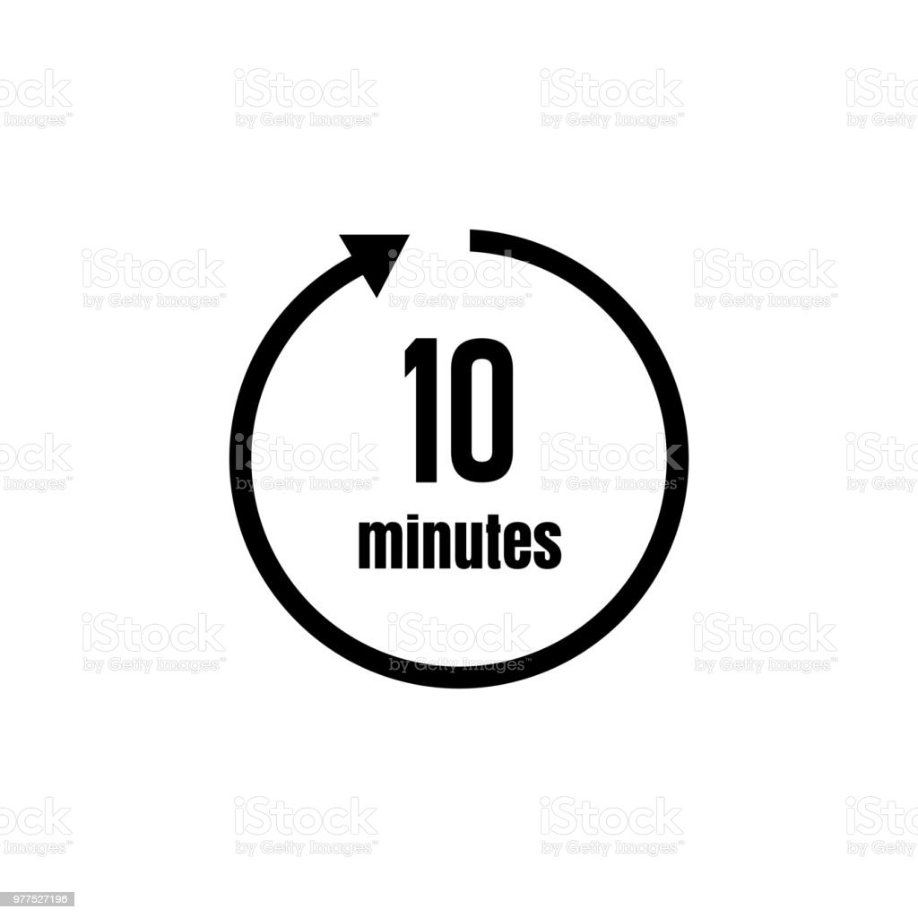clock timer icon 10 minutes stock vector art more images of