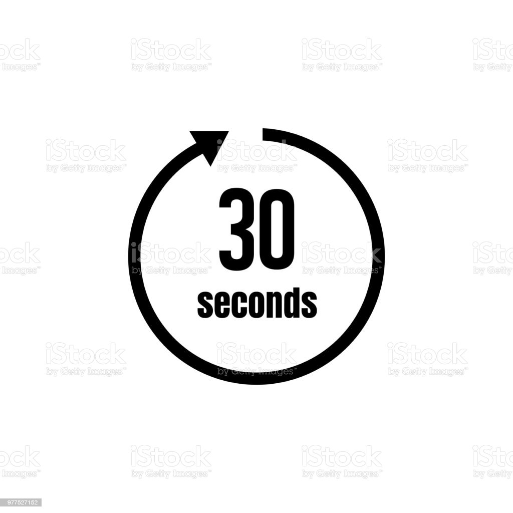 clock timer icon 30 seconds stock vector art more images of