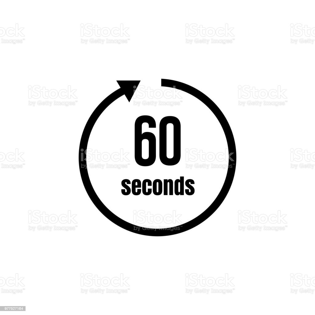 clock timer icon 60 seconds stock vector art  u0026 more images