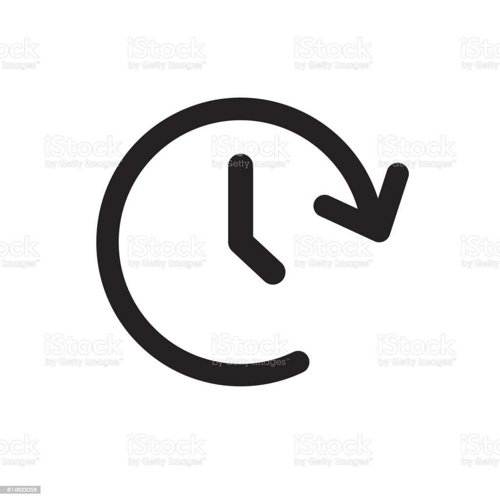 Clock tome vector icon. Timer 24 hours sign illustration. vector art illustration
