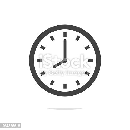 istock Clock vector icon isolated 931336618