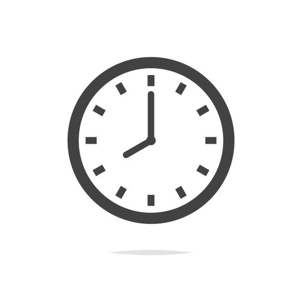 Clock vector icon isolated Vector element clock stock illustrations