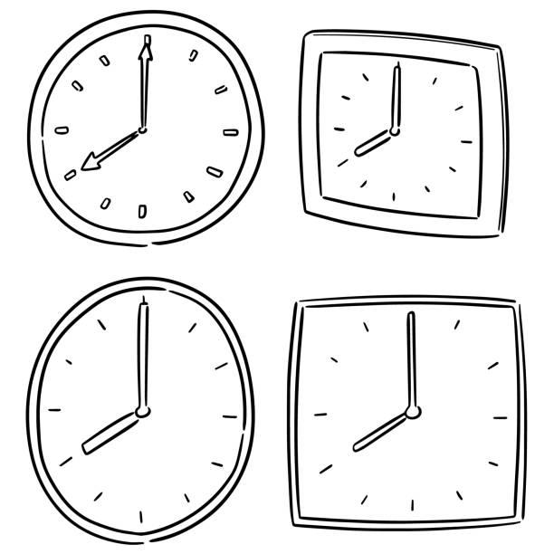 clock – artystyczna grafika wektorowa