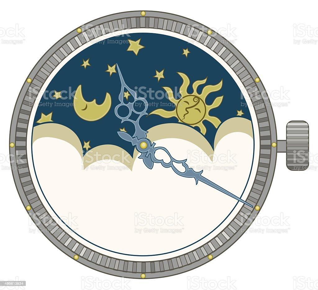 Clock vector art illustration