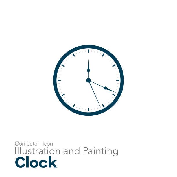 clock Illustration and Painting wall clock stock illustrations