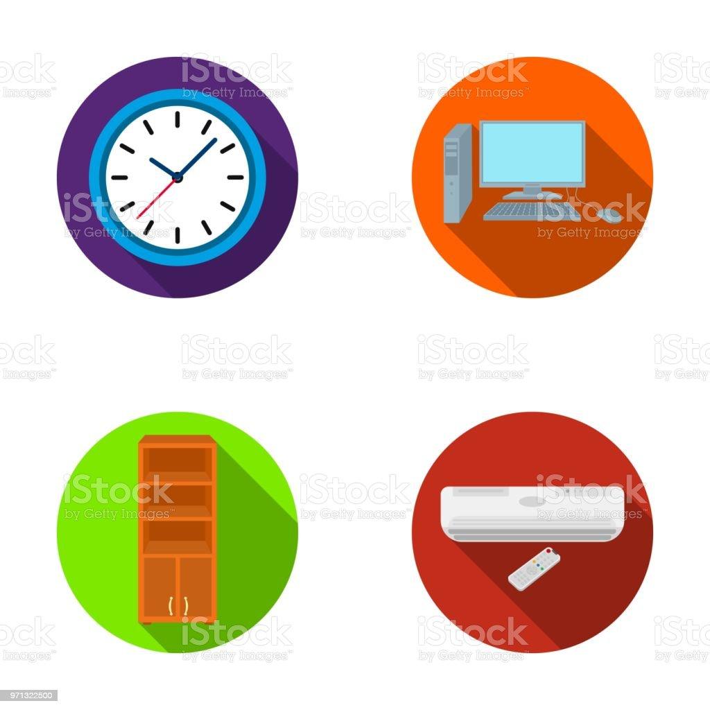 Uhr Mit Pfeilen Einen Computer Mit Zubehor Fur Die Arbeit Im Buro