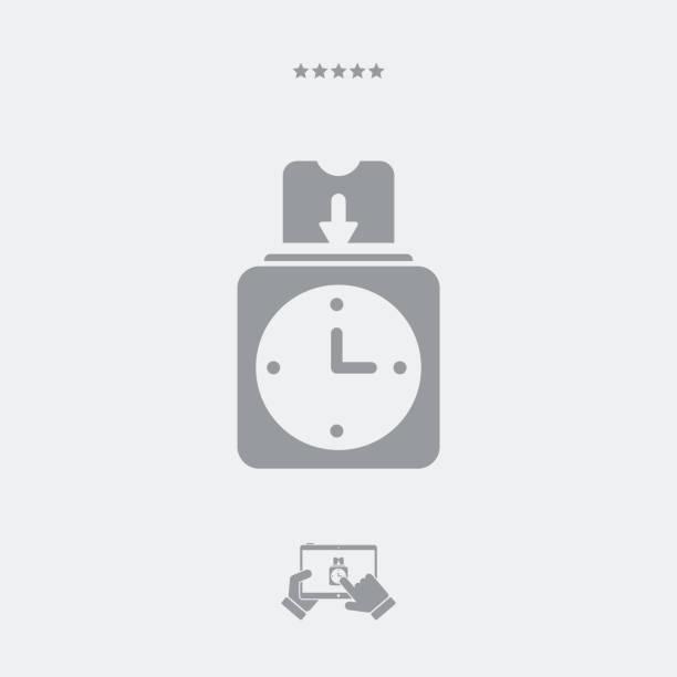 クロック カード - 出勤点のイラスト素材/クリップアート素材/マンガ素材/アイコン素材