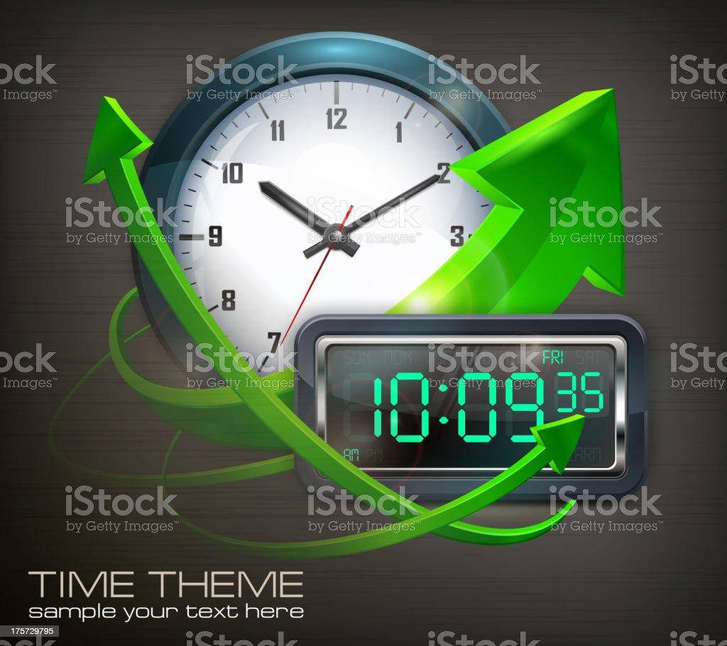 Clocks & arrows royalty-free stock vector art