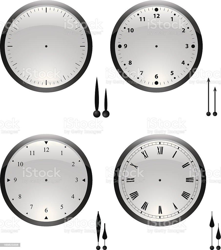 clocks glass vector art illustration