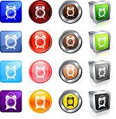 Clocks royalty free vector button set