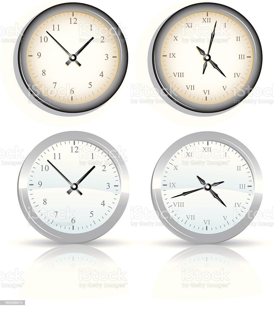 Clocks royalty-free stock vector art