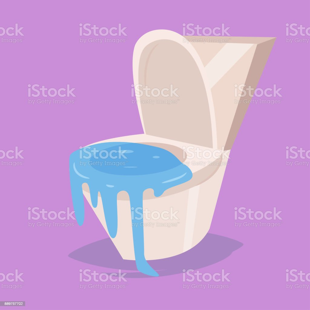 Clog The Toilet Vector Cartoon Stock Vector Art & More Images of ...
