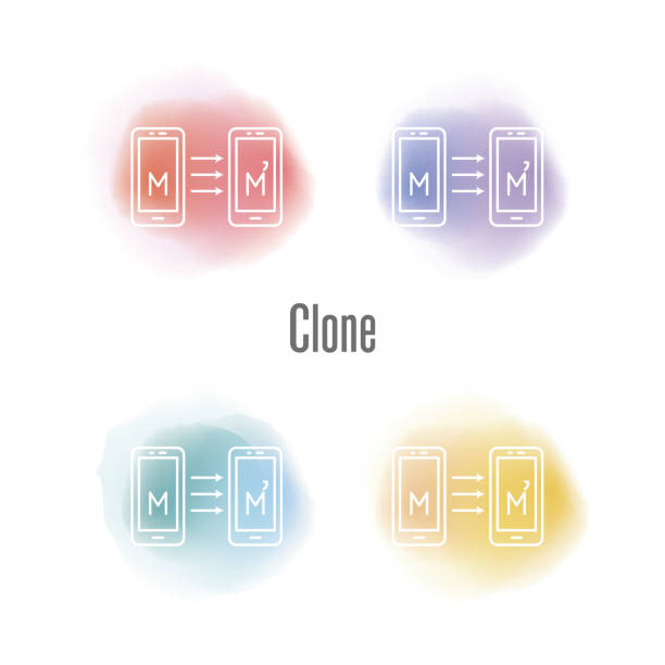 Clone Concept vector art illustration