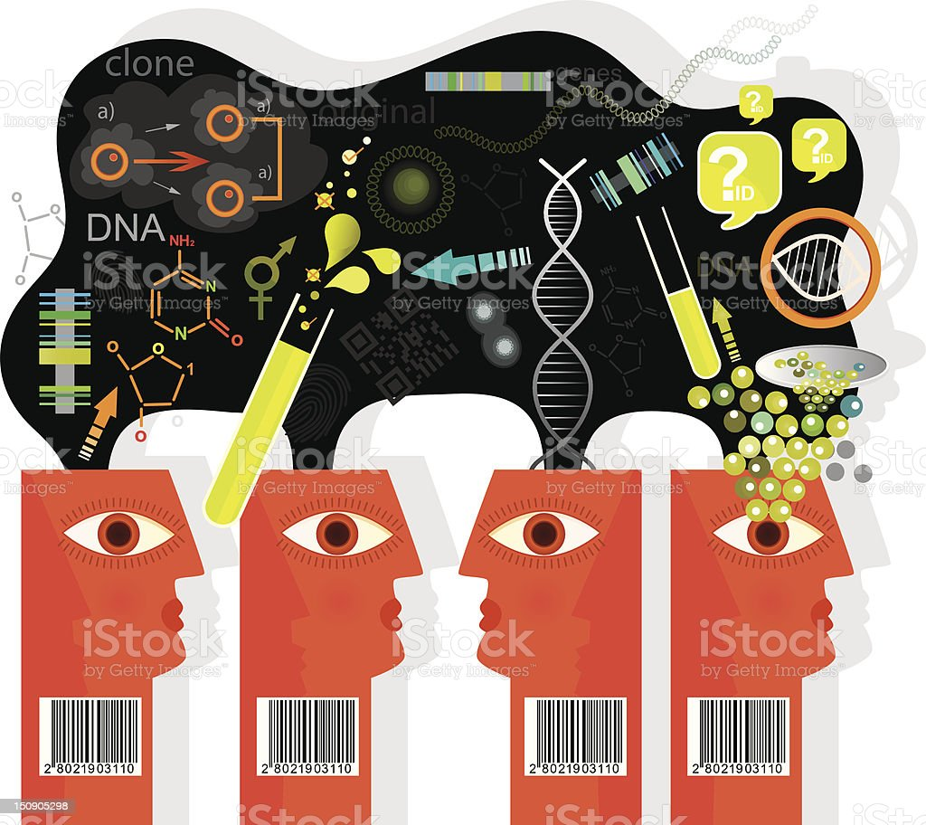 Cloning Future Vision royalty-free stock vector art