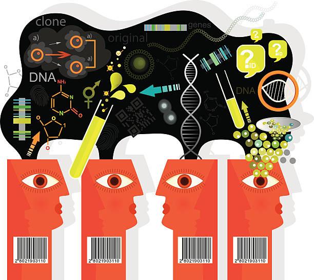 Cloning Future Vision vector art illustration