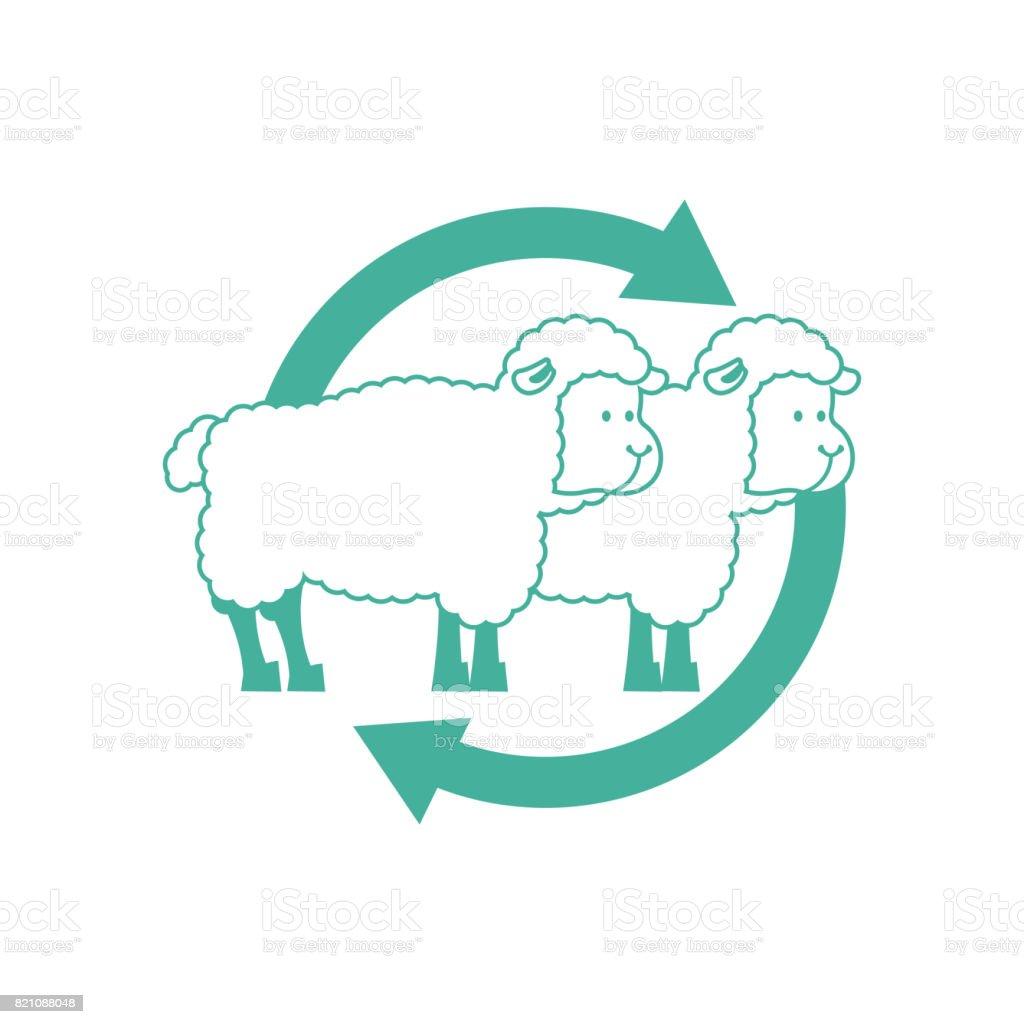 Klonen Schafe Zeichen Labor Forschung Symbol Stock Vektor Art und ...