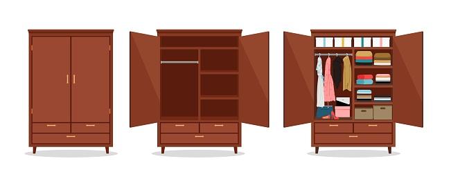 Close open wardrobe