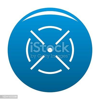 Enge Radar Icon Blau Vektor Stock Vektor Art Und Mehr Bilder Von