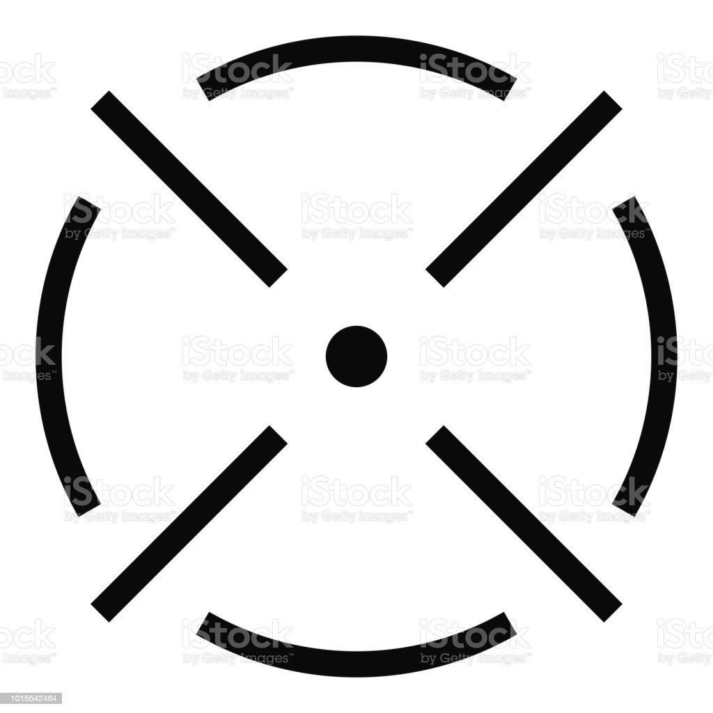 Schließen Sie Radarsymbol Einfachen Stil Stock Vektor Art Und Mehr